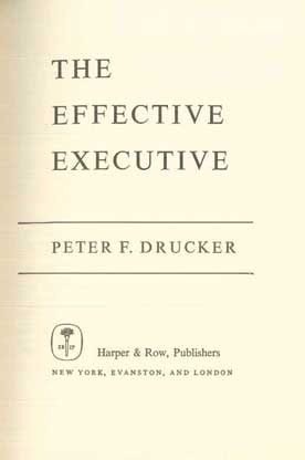 The Effective Executive - [Used]
