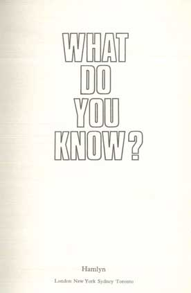 What Do You Know? - [Used]