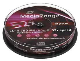 CD-R Media Range 700MB 80min 10τεμ