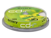 CD-R Sony 10τεμ. 48X  Tower