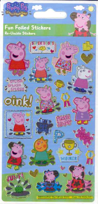 Αυτοκόλλητα Stickers Peppa Pig Re-Usable