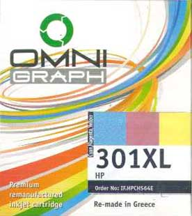 Μελάνι Omni (301XL) Tricolor 21ml